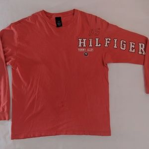 Tommy Jeans Hilfiger L/S Red T-Shirt Sz Large